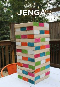 Giant Jenga for outdoor house warming gifts