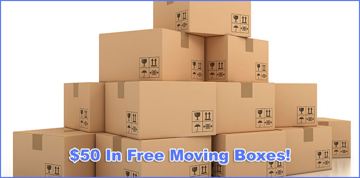Free Moving Boxes When You Book Your Next Move!